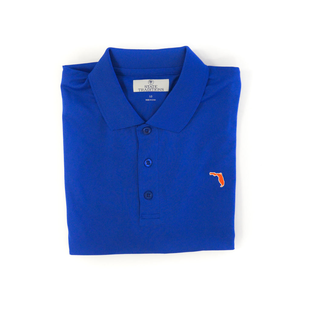 Florida Gainesville Clubhouse Performance Polo Blue