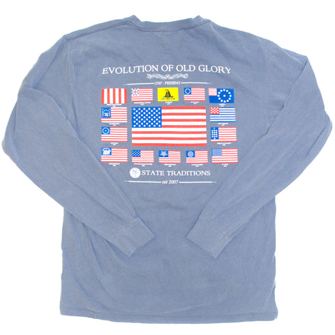 Old Glory Long Sleeve T-Shirt Blue Jean