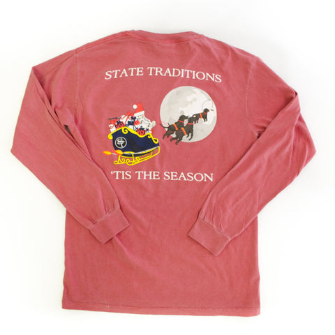 'Tis the Season Longsleeve T-Shirt Red