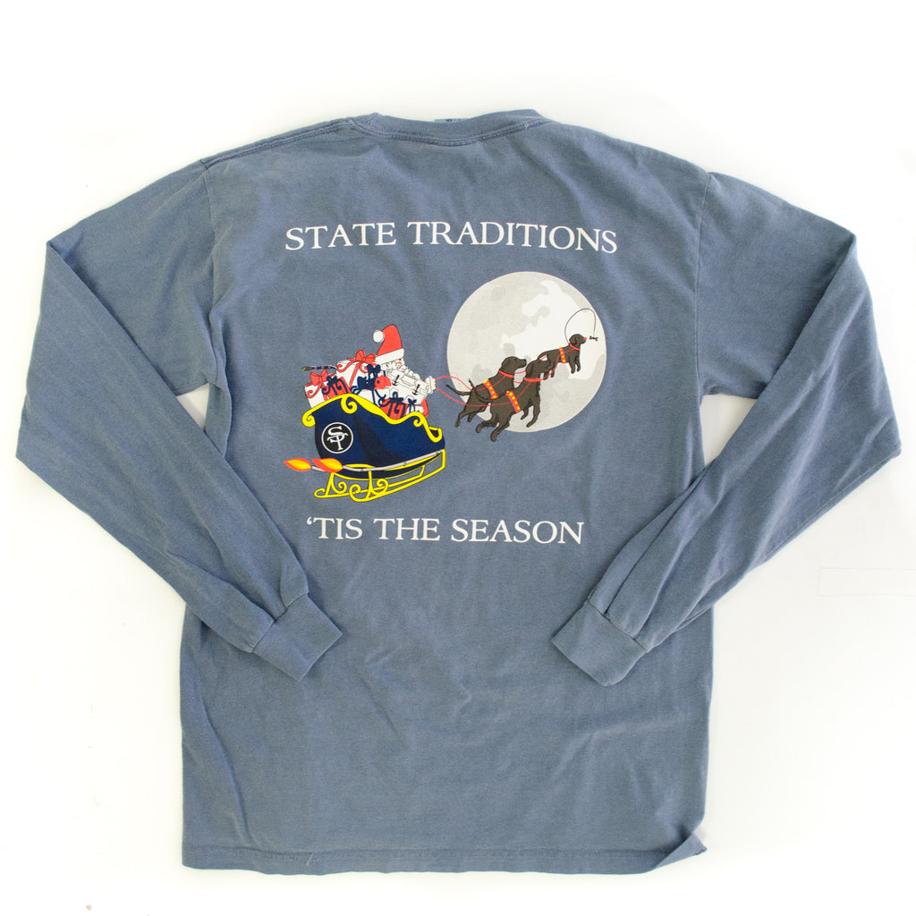 'Tis the Season Long Sleeve T-Shirt Blue Jean