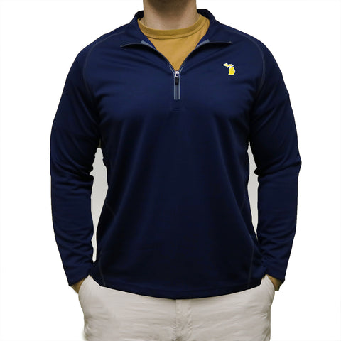 Michigan Ann Arbor Gameday Performance Pullover Navy