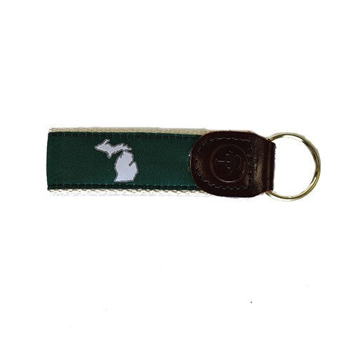 Michigan East Lansing Gameday Key Fob