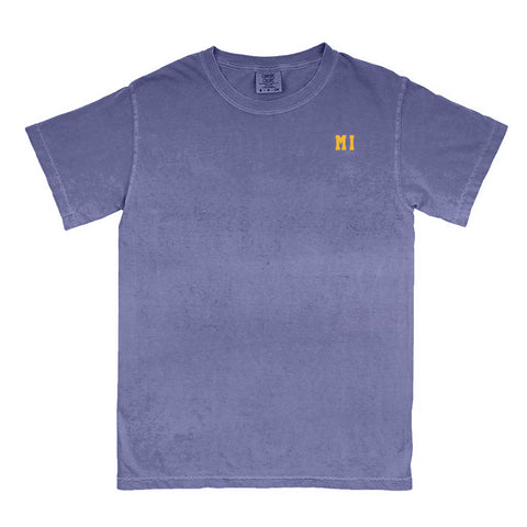 "Michigan ""MI"" State Letters T-Shirt"