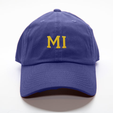 """MI"" Michigan Gameday Letterman Hat"