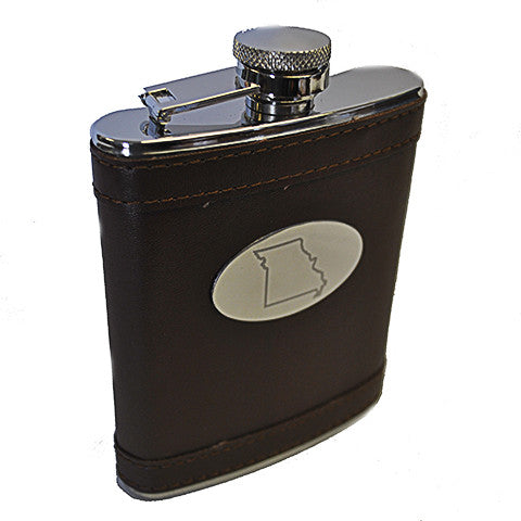 Missouri Leather Flask