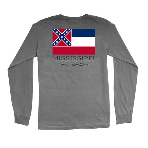 Mississippi State Flag Long Sleeve T-Shirt