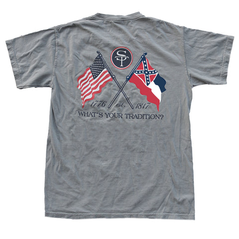 MISSISSIPPI AND AMERICAN FLAG T-SHIRT