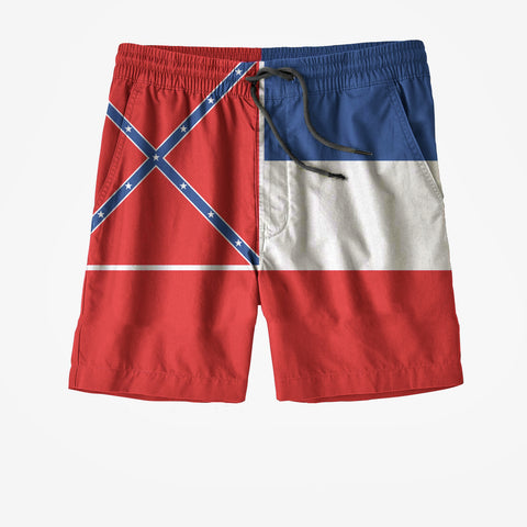 Mississippi State Flag Swim Trunks
