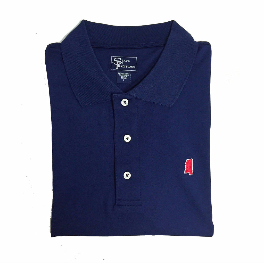Mississippi Oxford Gameday Clubhouse Performance Polo Ole Miss Gameday Gear Gifts for Men Men's Gifts Hotty Toddy Hotty Totty