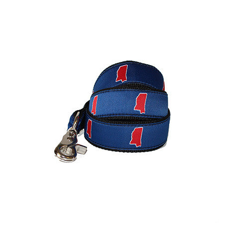Mississippi Oxford Gameday Dog Leash/Lead Blue