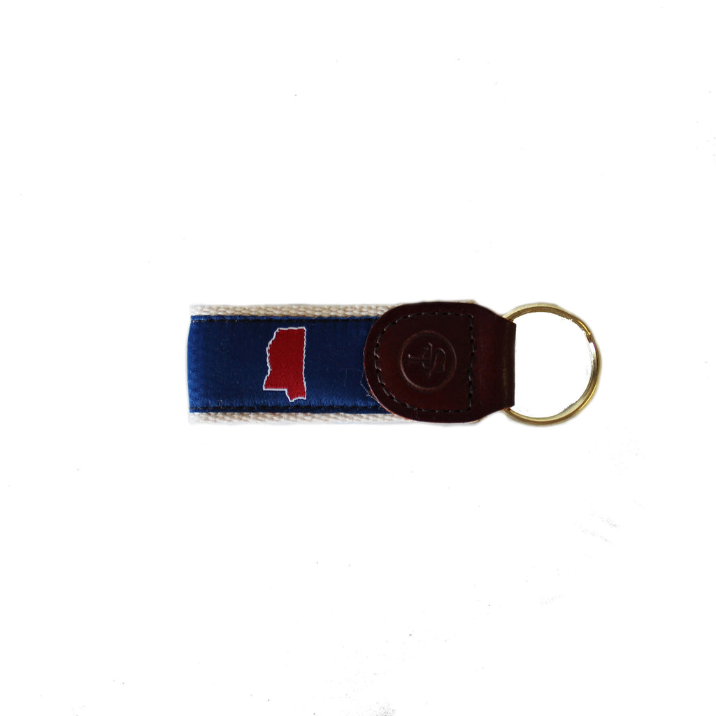 Mississippi Oxford Gameday Key Fob Blue