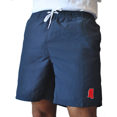 Mississippi Oxford Gameday Swimwear Navy