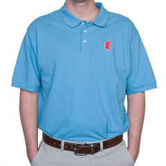 Mississippi Oxford Gameday Polo Light Blue