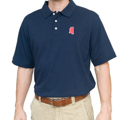 Mississippi Oxford Gameday Polo Navy