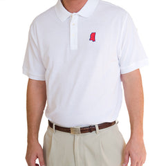 Mississippi Oxford Gameday Polo White