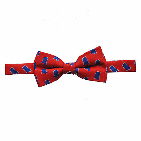 Mississippi Oxford Gameday Youth Bow Tie Red