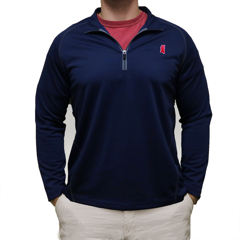 Mississippi Oxford Gameday Performance Pullover Navy