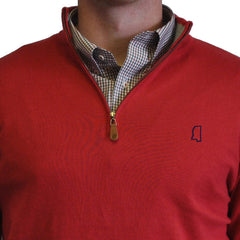 Mississippi Oxford 1/4-Zip Pullover Red
