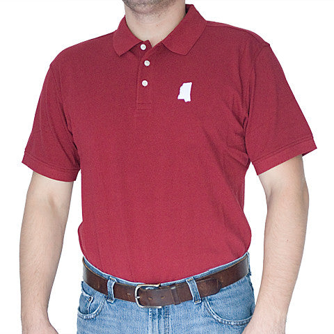 Mississippi Starkville Gameday Polo Maroon