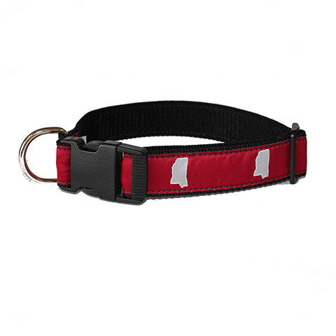 Mississippi Starkville Gameday Dog Collar