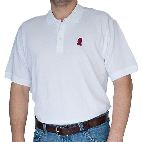Mississippi Starkville Gameday Polo White
