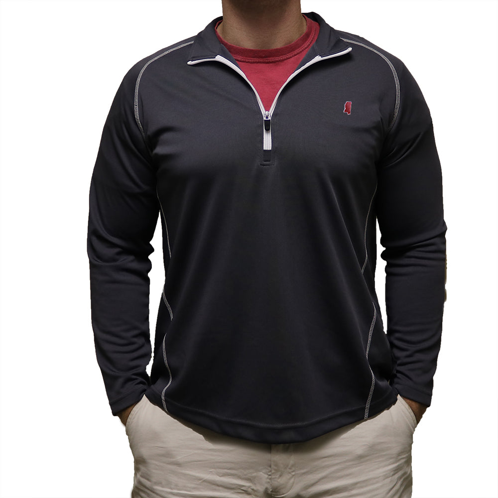 Mississippi Starkville Gameday Performance Pullover Grey