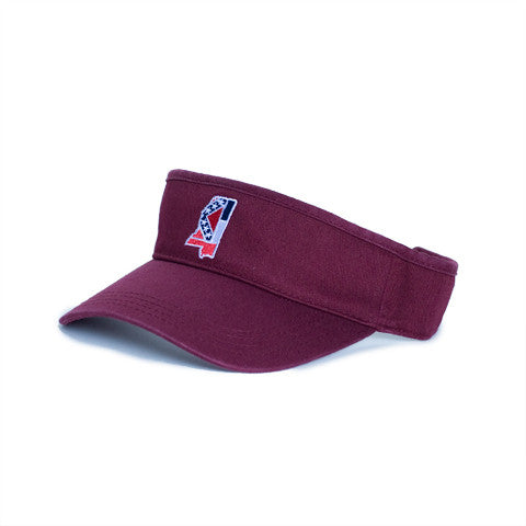 Mississippi Traditional Hat Visor Maroon