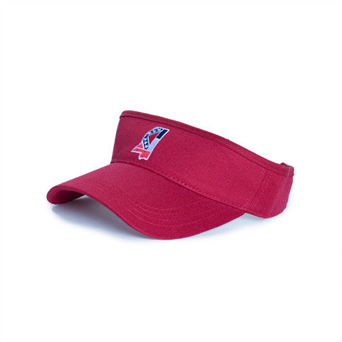Mississippi Traditional Hat Visor Red