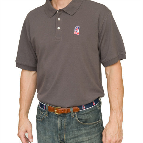 Mississippi Traditional Polo Grey