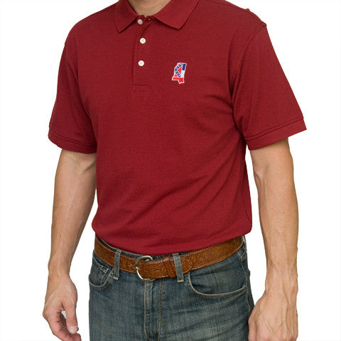 Mississippi Traditional Polo Maroon