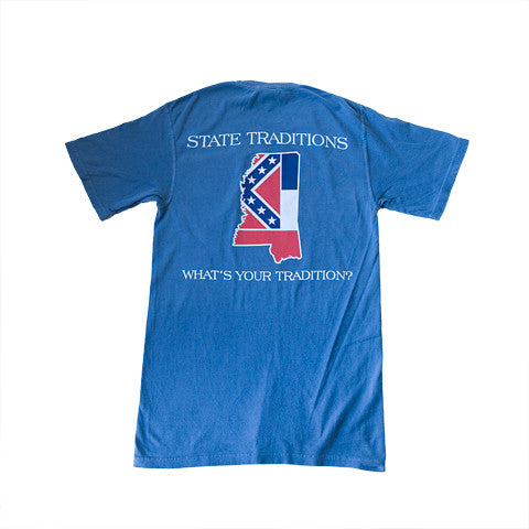 Mississippi Traditional T-Shirt Blue