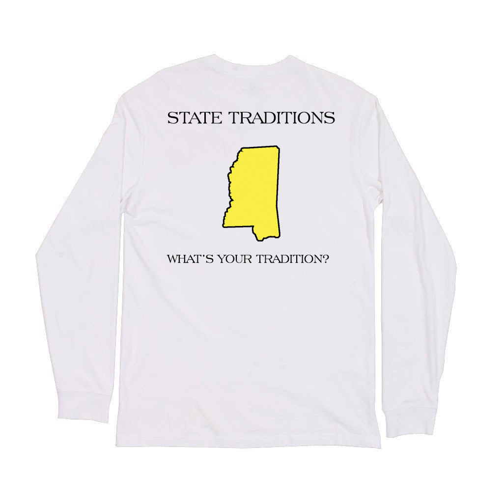 Mississippi Hattiesburg Gameday Long Sleeve T-Shirt White
