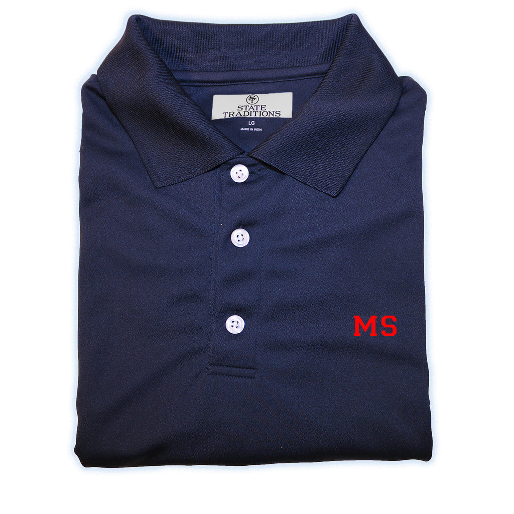 Navy and Red Mississippi Gameday Polo