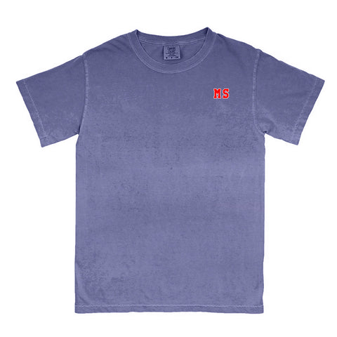 "Mississippi ""MS"" State Letters T-Shirt"
