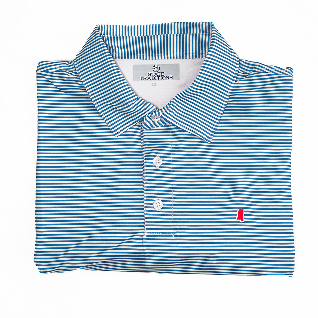 "Mississippi Oxford Gameday ""Tips"" Polo"