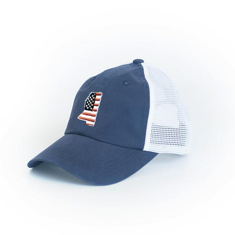 Mississippi Patriot Trucker Hat Navy