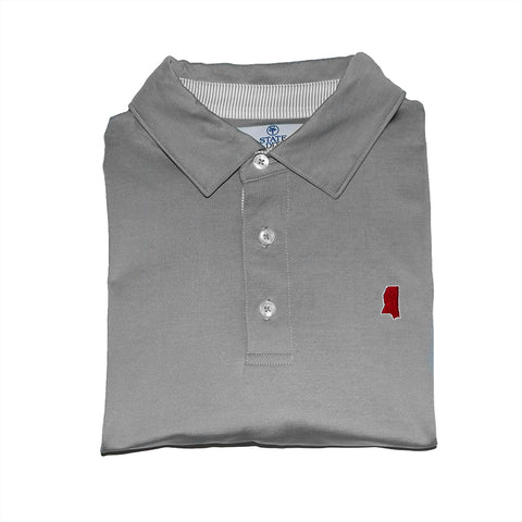 Mississippi Starkville Gameday Signature Polo Grey