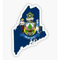 Pine Tree State, Maine Lobster Sticker, Maine Flag, Lobster Shape, State of Maine, Sticker