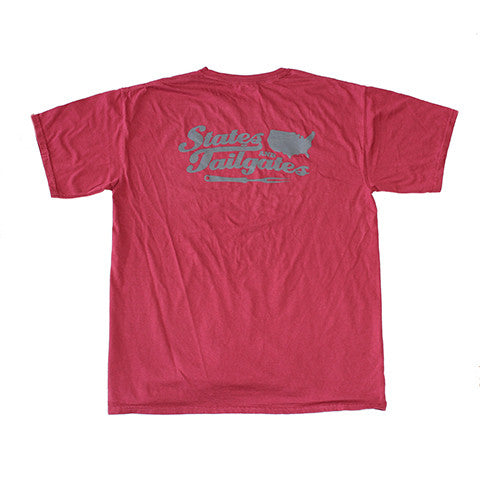 States and Tailgates T-Shirt Maroon and Grey