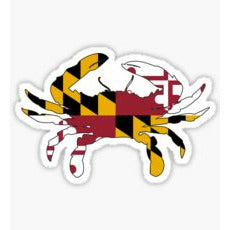 "Maryland Crab, ""Old Line State"", ""Free State, Maryland Flag Sticker, Maryland Flag Decal, Maryland Crab Sticker, Maryland Crab Decal"