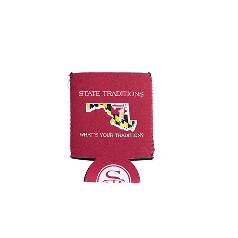 Maryland Traditional Koozie Red