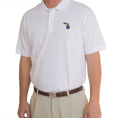 Michigan Ann Arbor Gameday Polo White
