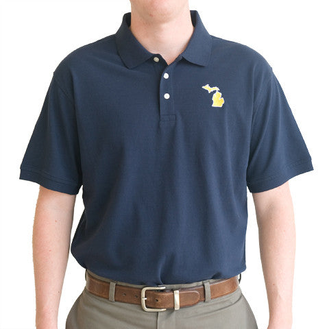 Michigan Ann Arbor Gameday Polo Navy