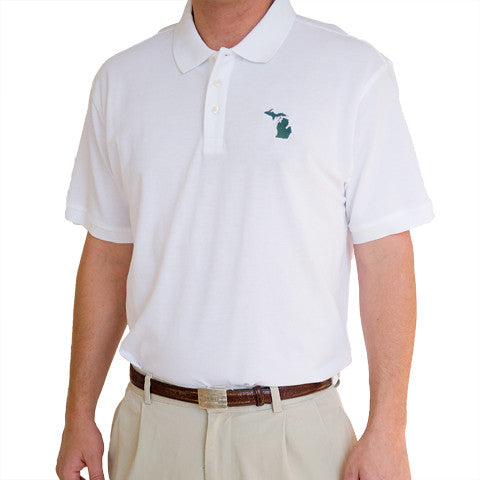 Michigan East Lansing Gameday Polo White
