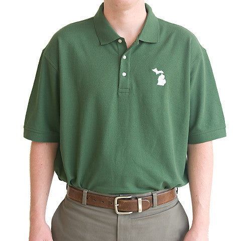 Michigan East Lansing Gameday Polo Green