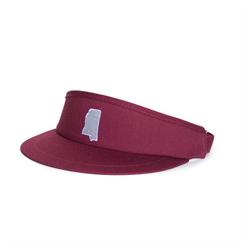 Mississippi Starkville Gameday Golf Visor Maroon