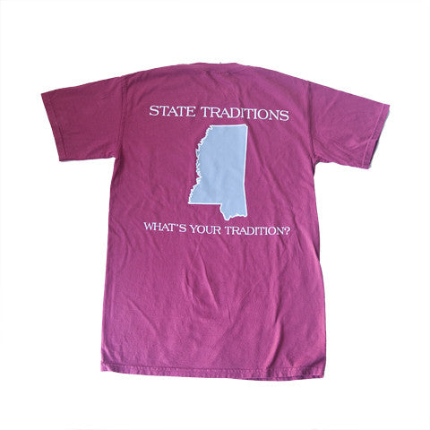Mississippi Starkville Gameday T-Shirt Maroon