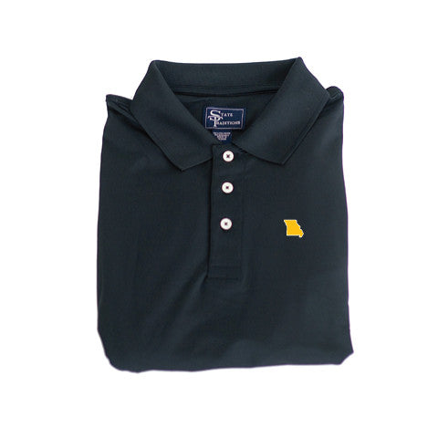 Missouri Columbia Clubhouse Performance Polo Black