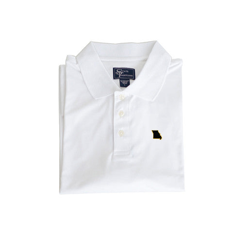 Missouri Columbia Clubhouse Performance Polo White