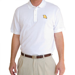 Missouri Columbia Gameday Polo White